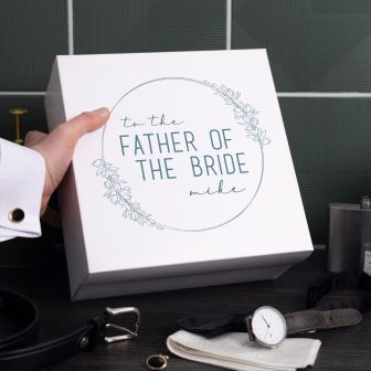 Personalised Father of the Bride Wedding Gift Box | Lifestyle