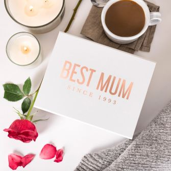 Personalised Mother's Day 'Best Mum' White Magnetic Gift Box