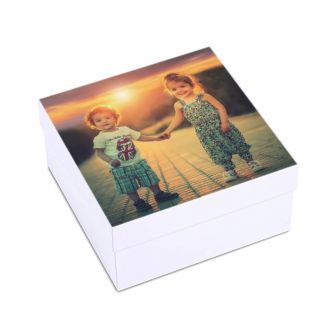 Full Size Square 1 Photo Keepsake Gift Box