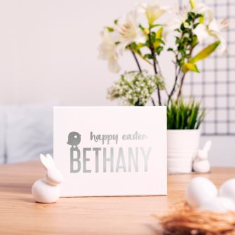 Personalised Happy Easter Baby Chick White Magnetic Gift Box