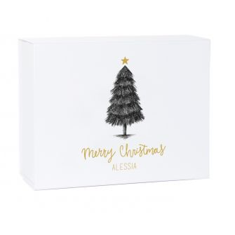 Personalised Merry Christmas Tree Gift Box