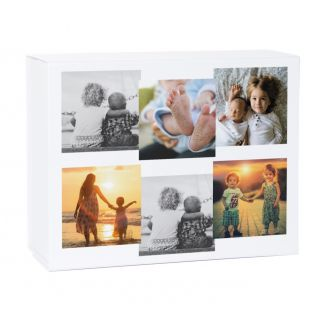 6 Photo Collage Keepsake Gift Box