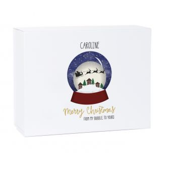 Personalised Christmas Bubble Snow Globe Gift Box