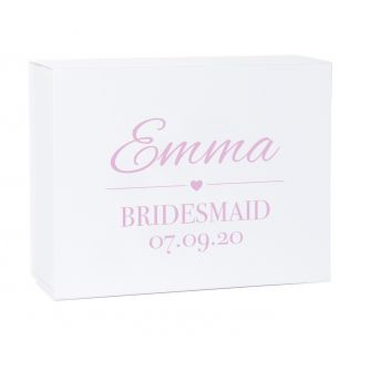 Personalised Bridesmaid Deep Magnetic Wedding Gift Box
