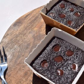 Signature Chocolate Brownie Bites - Vegan, Gluten, Dairy & Soya Free - Box of 6