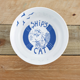 Ship's Cat Bone China Bowl
