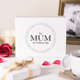 Personalised Mothers Day Courtesy of Your Favourite Child White Gift Box