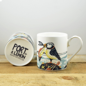 Proud as a Puffin Bone China Hand Decorated Mug