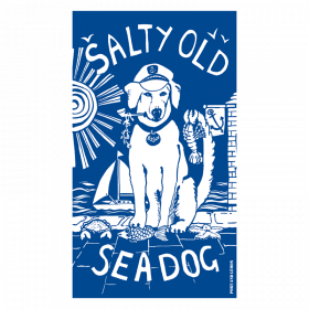 Salty Sea Dog Tea Towel